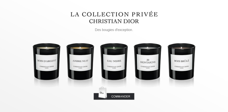 Bougies Collection Privée Christian Dior Source Christian Dior
