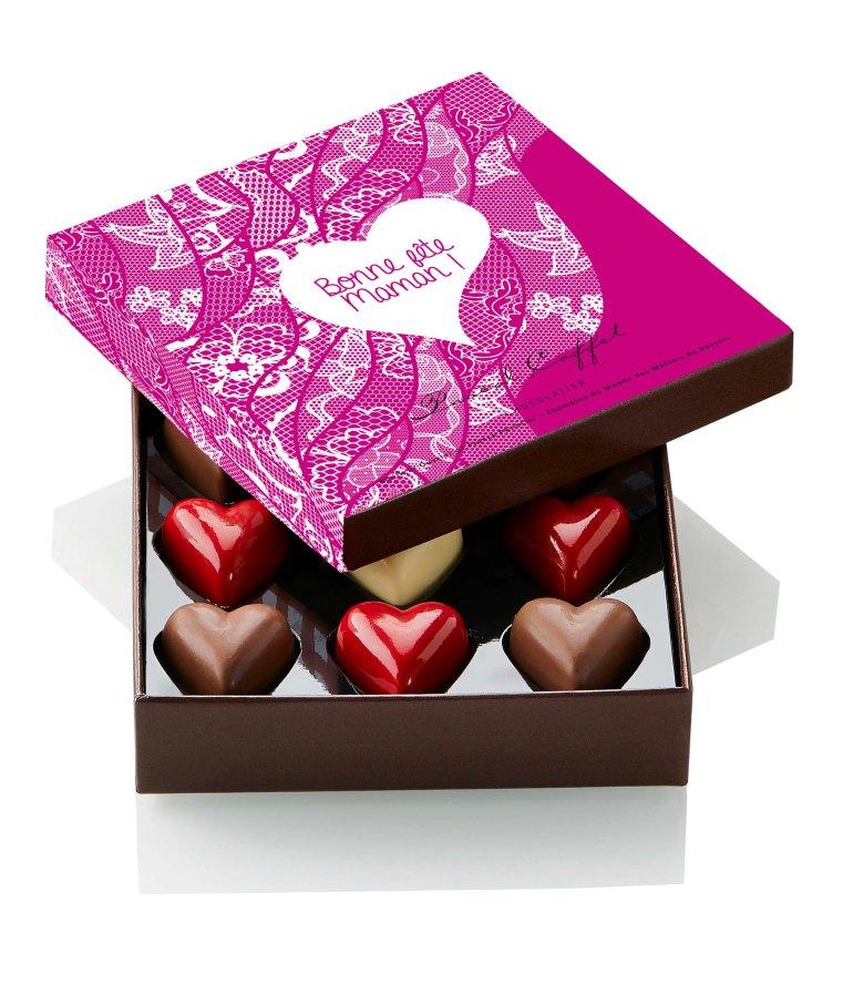 Coffret 9 chocolats Fête des Mères Pascal Caffet