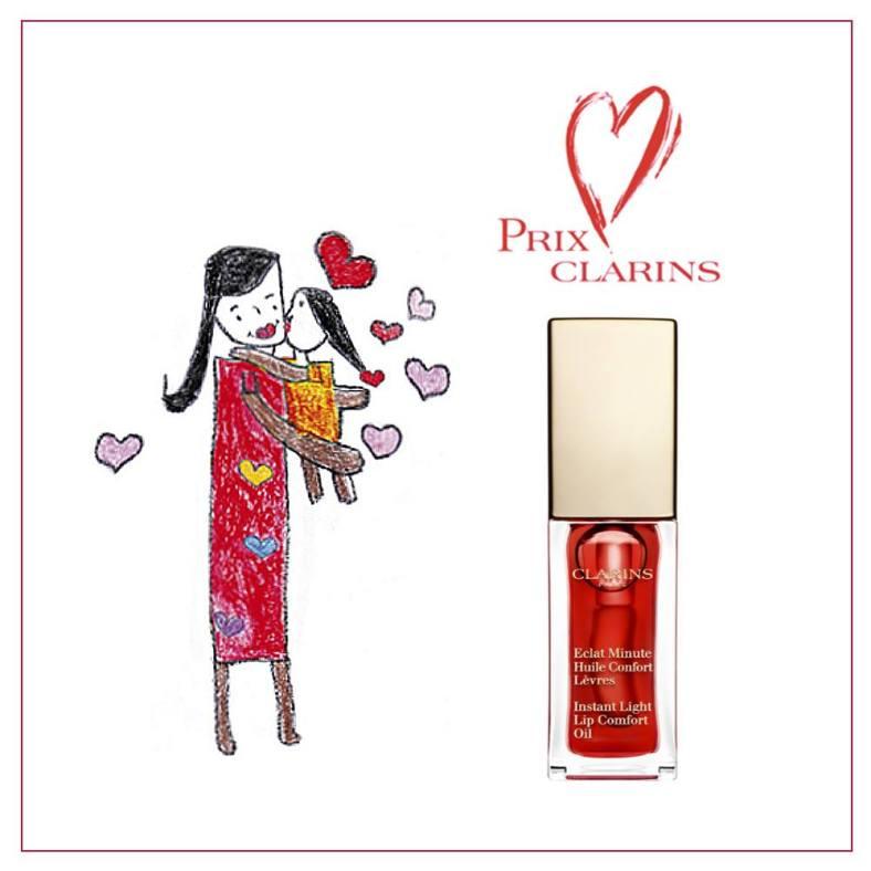 Eclat Minute Huile Confort Lèvres édition spéciale Prix Clarins - Source Facebook Clarins