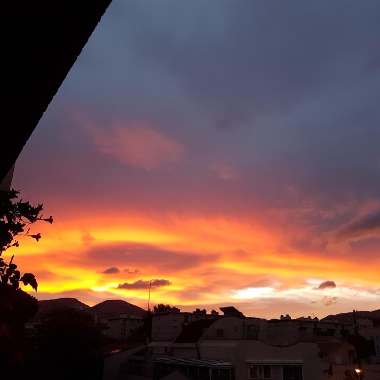 Le ciel au dessus de ma tête au mois de septembre