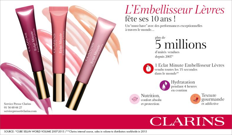 Eclat Minute Embellisseur Lèvres de Clarins