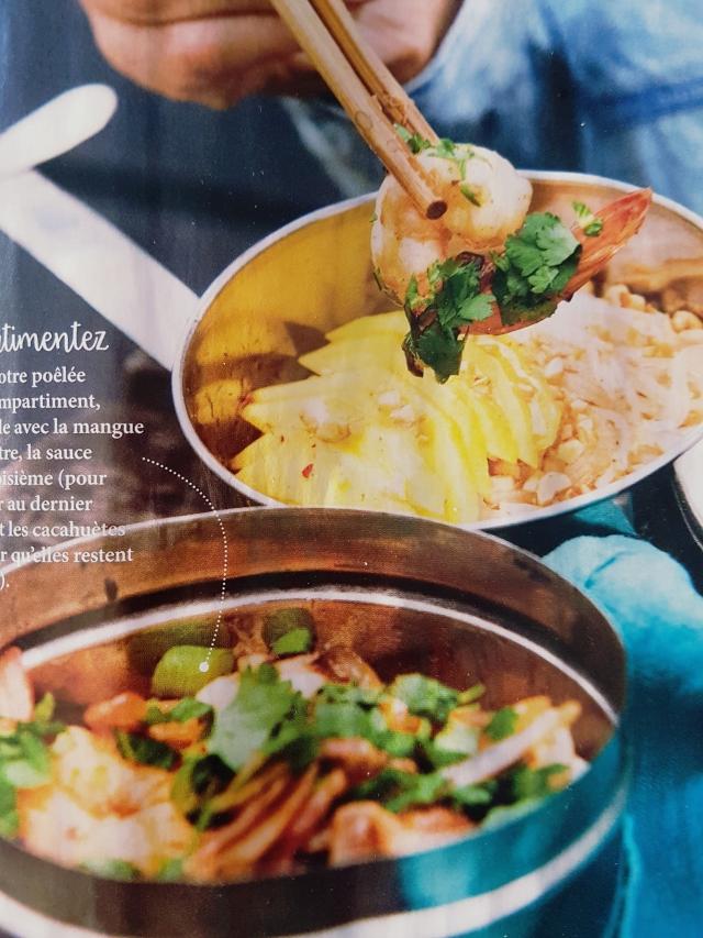 Poêlée porc-crevettes sauce thaïe