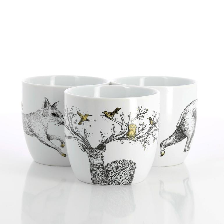 5 Mugs animaux Nature & Découvertes