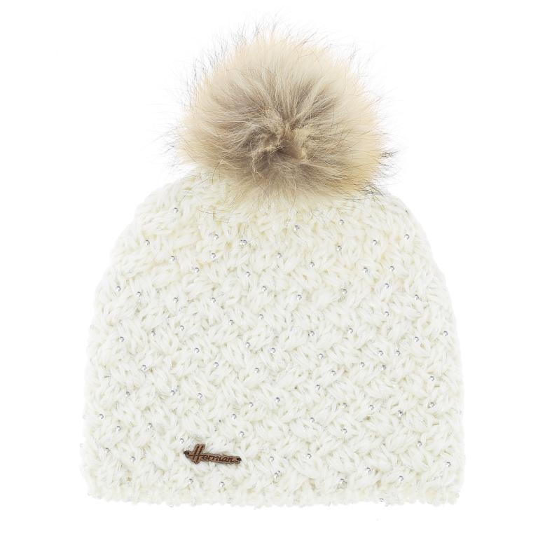 Bonnet Maggy blanc sequins Nature & Découvertes