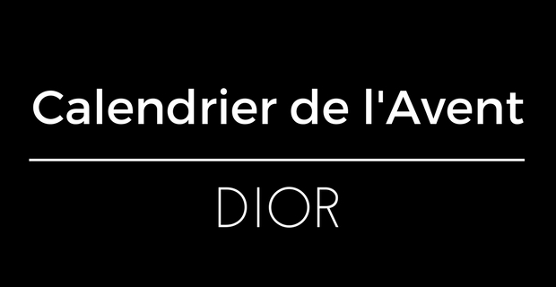Calendrier Avent Dior