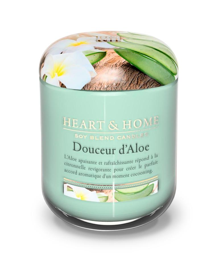 Bougie Heart&Home Douceur d'Aloe