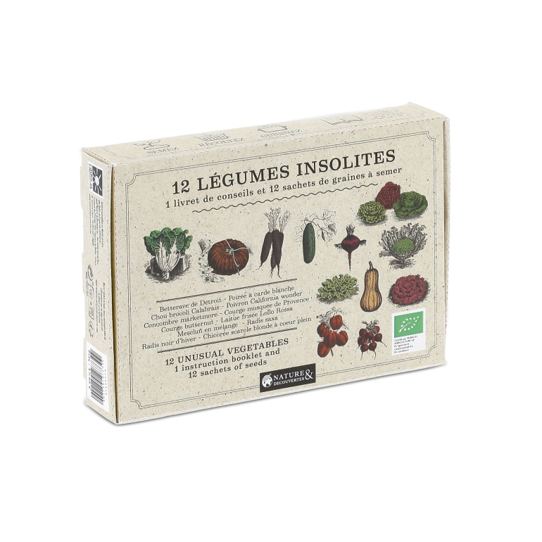 Nature & Découvertes Coffret graines 12 légumes insolites