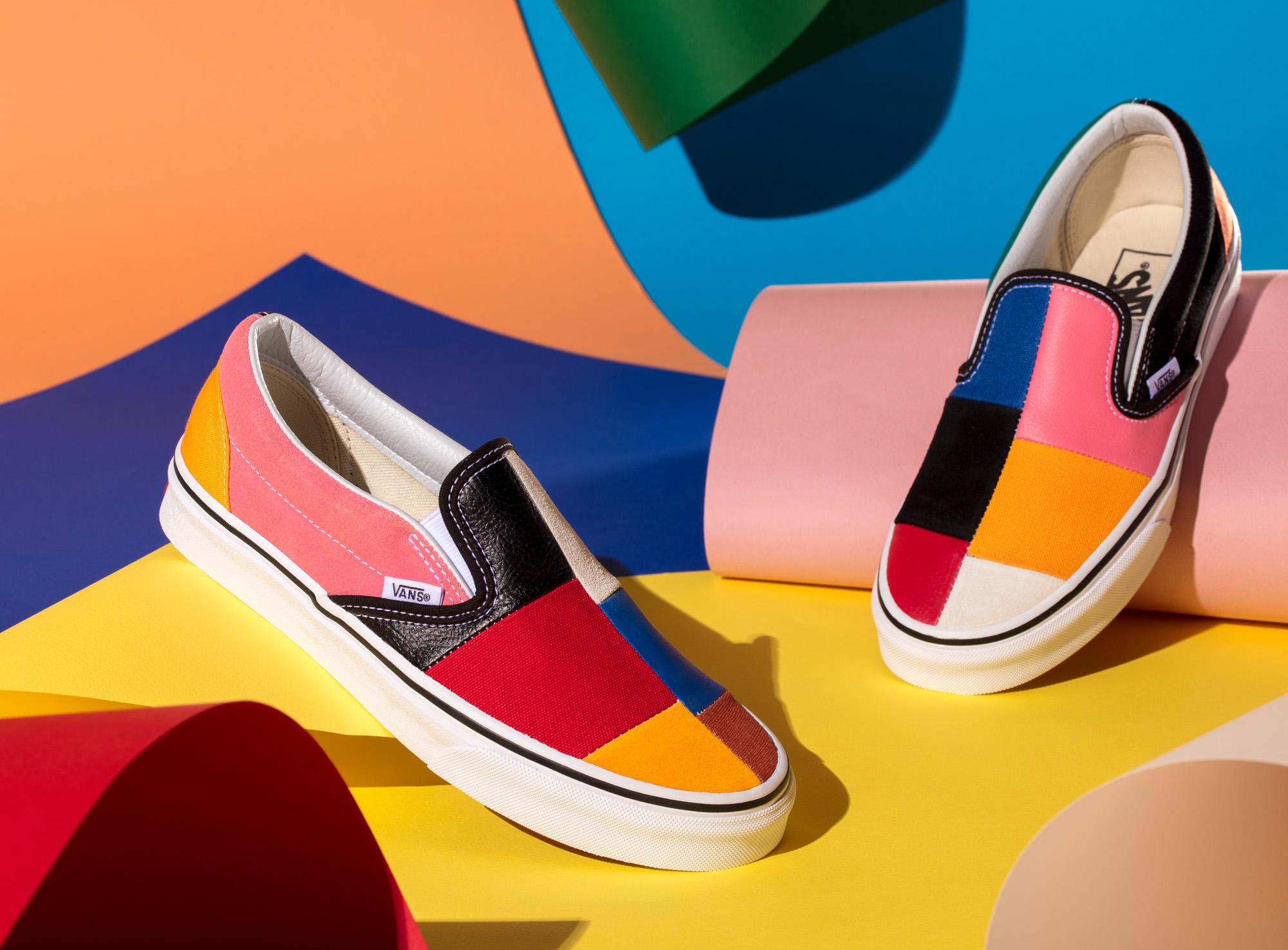 vans femme chaussure de plusiere couleure