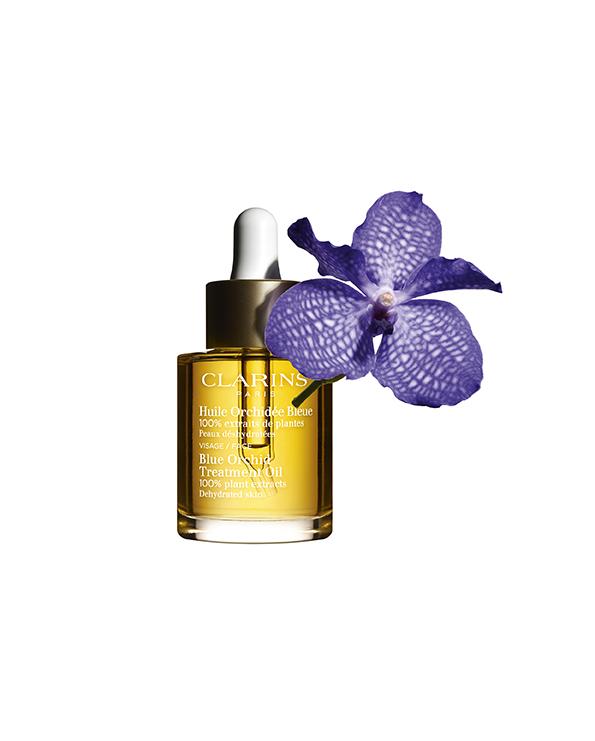 Clarins Ligne Aromaphytosoin Huile Orchidée Bleue ©Clarins