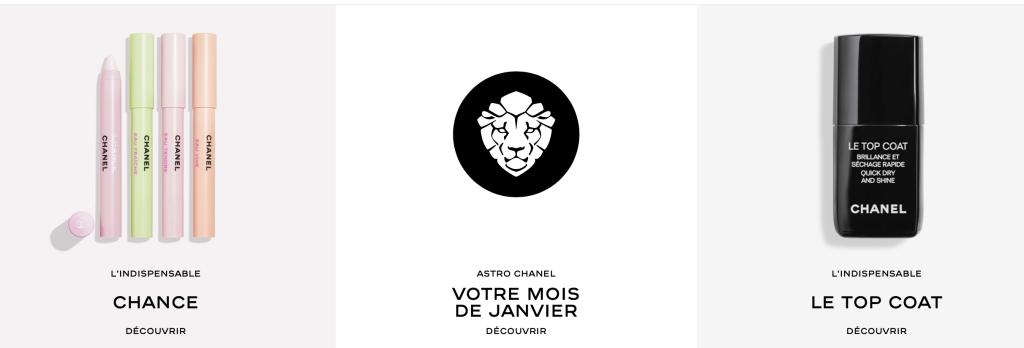 Liste Chanel Beauté