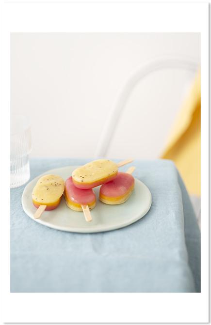 Esquimaux à l'eau et aux fruits de Belle dans mes recettes Olivier Courtin-Clarins