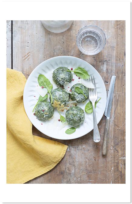 Gnocchis d'épinards de Belle dans mes recettes d'Olivier Courtin-Clarins