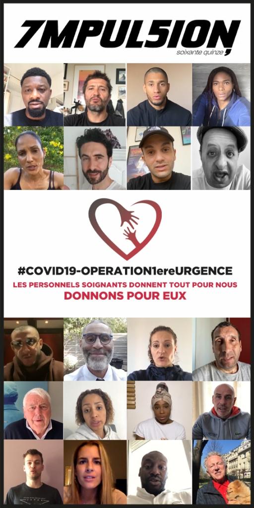 Covid 19 Opération 1ère Urgence Impulsion 75